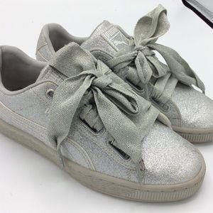 Puma Shoes | Girls Silver Glitter